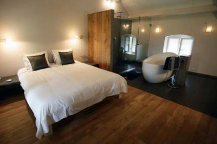 Laatste trends voor de slaapkamer wooninterieur - Slaapkamer open voor badkamer ...